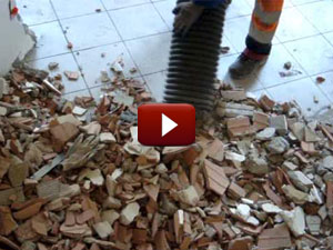 Escavatore a Risucchio Aspirazione Macerie