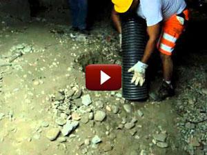 Escavatore a Risucchio Creazione Vespaio